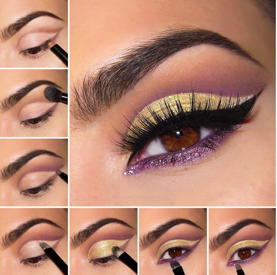Purple and Gold on Eyes