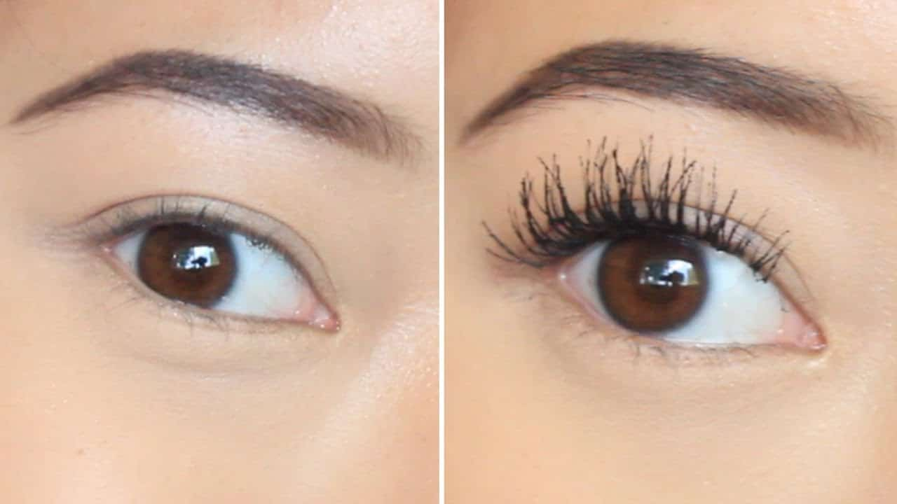 Apply mascara to upper and lower lashes, in two thin coats to avoid clumps.